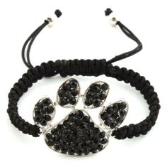 Black Tiger Paw Adjustable Lace Style Bracelet Iced Out Poparazzi JOTW. $1.95. Great Quality Jewelry!. 100% Satisfaction Guaranteed!
