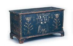 1829 blanket chest Colonial Williamsburg Spectacular Antique Painted Furniture Beauties