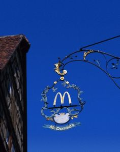 McDonalds Sign, Rothenburg, Bavaria, Germany. Repinned by www.mygrowingtraditions.com
