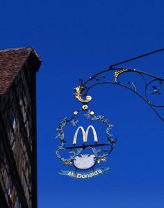 McDonalds Sign, Rothenburg, Bavaria, Germany