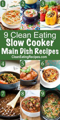 Clean Eating Crock Pot Main Dish Recipes