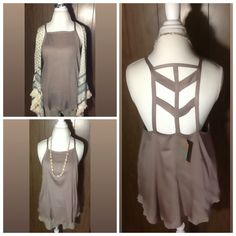 "😍Last one April Spirit tank various sizes NWT Boho taupe tank by April Spirit NWT. All sizes are 16"" armpit to armpit. Choose according to what you normally wear for a junior tan. This tank is meant to be flowy at the bottom, an A frame fit. April Spirit Tops Tank Tops"