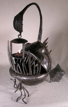 Anglerfish candle holder. I know it looks a little strange, but I love love love this thing!