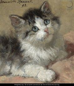 An Inquisitive Kitten - Henriette Ronner-Knip