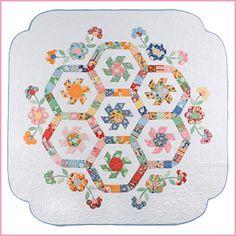 Spring Garden quilt pattern by Sue Daley Designs