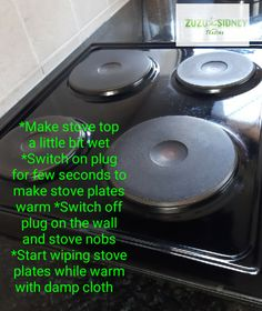 Stove tops cleaning tips - always clean stove tops just after cooking Clean Stove Top, Cleaning Hacks, Plugs, Cooking, How To Make, Tops, Kitchen, Corks, Brewing