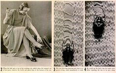 Vintage Prank 1938 (LIFE Magazine):  1. When the lady gets a run in her stockings, she calmly takes the compact out of her purse, removes the beetle and places him at the bottom of the run.  2. The wise little bug, knowing just what is expected of him, starts immediately to work.  3. He crawls up the lady's leg, his expert mandibles repairing the run as he goes along.  MORE.