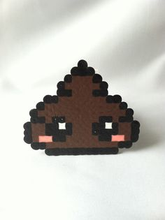 Kawaii Poo poo Perler Bead by GeektasticCrafts on Etsy, $1.99