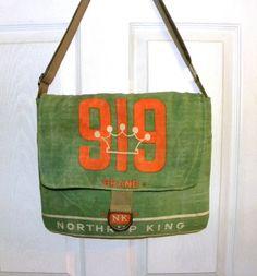 Northrup King 919 Vintage alfalfa seed bag upcycled by LoriesBags
