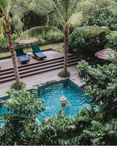 Pools in the middle of the jungle for a little afternoon delight >>