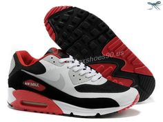 separation shoes 221a4 aac0b Nike Air Max 90 Hyperfuse Mens Trainers Red White Black Grey Nike Air Max  Running,