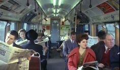 1960s London Underground Tube Commuters