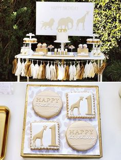 Gold and white baby shower | Shop. Rent. Consign. MotherhoodCloset.com Maternity Consignment