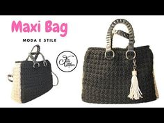 TUTORIAL: Maxy bag/ borsa grande uncinetto***lafatatuttofare*** - YouTube