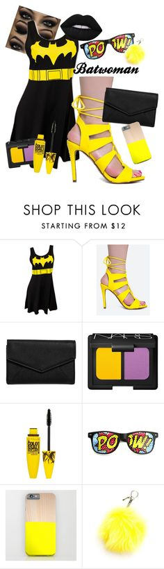 Batwoman by aneta-sundova on Polyvore featuring Delicious, LULUS, ZeroUV, Fendi, Lime Crime, NARS Cosmetics and Maybelline