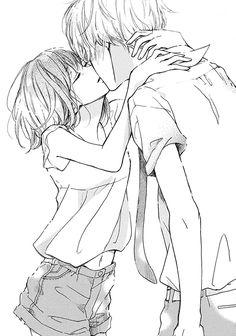 manga name? if it is a manga Anime Love, Couple Anime Manga, Manga Anime, Romantic Anime Couples, Art Manga, Anime Couples Manga, Cute Anime Couples, Manga Drawing, Anime Bisou