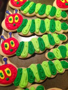 Bake Me Happy: The Very Hungry Caterpillar Cookies Baby 1st Birthday, First Birthday Parties, It's Your Birthday, First Birthdays, Birthday Ideas, Cupcake Cookies, Sugar Cookies, Cupcakes, Party Fun