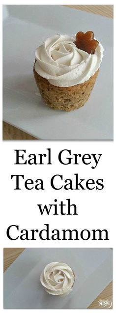 Earl Grey Tea Cakes with Cardamom -- this spicy cake recipe (without icing) is refined sugar-free, sweetened only with banana and maple syrup!