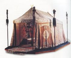 The Budapest Museum tent used to be kitted out with Transylvanian rugs. Such a cache of rugs would be too heavy to transport,even by Ottoman standards,and so felt mosaic carpets were probably in use Camping Life, Tent Camping, Glamping, Camping Kitchen, Camping Cooking, Camping Gear, Outdoor Camping, Larp, Images Viking