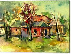 Beautiful Canvas Print featuring the painting It's Beautiful In The Country by Cuiava Laurentiu Morning Sunrise, Got Print, Stretched Canvas Prints, Canvas Material, Fine Art America, Giclee Print, Poster Prints, Canvas Art, Museum