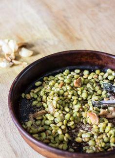Oven Roasted Lima Beans and Garlic | infinebalance.com #recipe #vegan