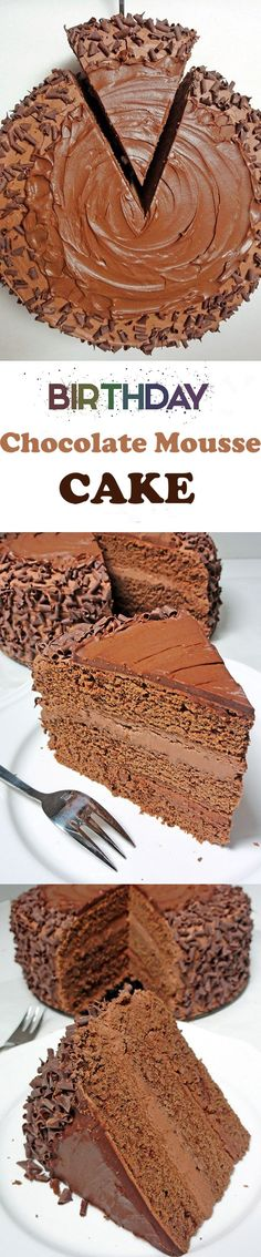 Chocolate Mousse Cake is one of the most decadent chocolate cakes ever ...