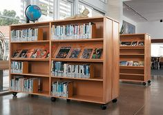 Lundia shelving specialises in the design, manufacture and supply of customisable timber storage solutions using standard components. Shop shelves NZ wide here! 1000 Books Before Kindergarten, Mobile Library, Library Shelves, Lund, Media Center, Storage Solutions, Shelving, Bookcase, The Unit