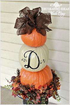 Pumpkin topiary- works for Fall and for Halloween