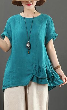 Plus Size Casual, Plus Size Tops, Sewing Clothes Women, Clothes For Women, Dress Making Patterns, Denim Blouse, Casual Tops For Women, Loose Shirts, Hippie Outfits