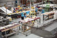 Roller Blind testing department gets busier and busier at our Lean Workshop. Roller Blinds, Fun At Work, Drafting Desk, Workshop, Furniture, Home Decor, Atelier, Decoration Home, Room Decor
