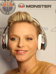 Princess Charlene attending a function for My Yacht  Monaco 2012
