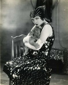 Jacqueline Logan with lion cub in Leopard Lady (1928)