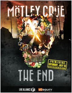 Motley Crue, The End, le film du dernier concert de leur carrière !  Eleven Seven Music présente  Mötley Crüe: The End   A compter du 16 juillet prochain les fans de Mötley Crüe du monde entier vont enfin pouvoir revivre à travers leurs écrans le dernier concert, archi-complet, que le groupe a donné le 31 décembre 2015 au Staples Center de Los Angeles. Un show époustouflant qui restera à jamais le dernier concert donné par ces icônes de la scène rock américaine.