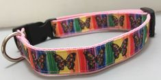 Handmade Butterly Design Dog Collar for Medium to Large Dogs Handmade Dog Collars, Large Dogs, Dog Design, I Love Dogs, Cool Things To Make, Fur Babies, Cool Designs, Boutique, Personalized Items