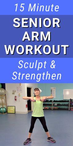 Low Impact Cardio Workout, Easy Workouts, Arm Exercises, Exercises For Seniors, Stretches, Fitness Workout For Women, Fitness Diet, Senior Fitness, Senior Workout