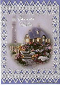Handcrafted Parchment Craft Greeting Card
