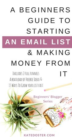 A Beginner's Guide to Starting An Email List From Scratch & How to Making Money From Your Email List (without feeling like a dirty rotten spammer-face). Complete with two email marketing sales funnel, welcome series, email ideas, freebie ideas and so much more. Save or Click through.  via @thekatedoster