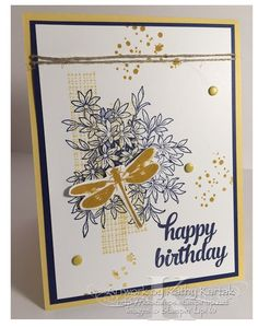 """Happy Birthday BFF is made with Stampin' Up's """"Awesomely Artistic"""" and """"Tin of Cards"""" stamp set."""