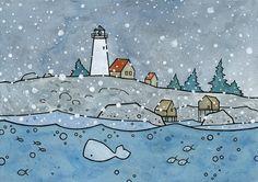 Lighthouse and Snow - david scheirer