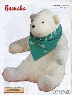 DIY Polar Bear Softie - FREE Sewing Pattern