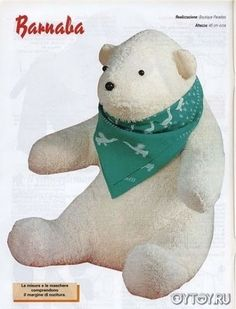 DIY Polar Bear Softie - FREE Sewing Pattern