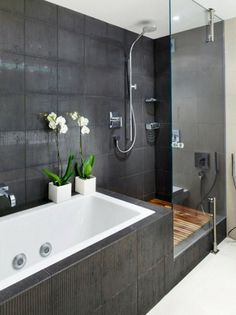 Love all of this. The wooden floor in the shower is brilliant.