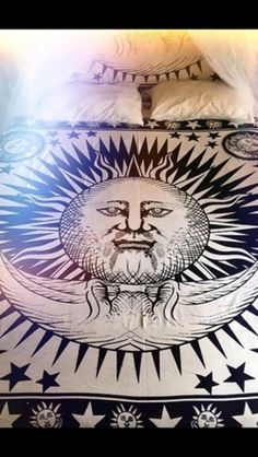home accessory wall tapestry hippie sun and moon tapestries mandala