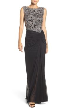 Tadashi Shoji Lace & Mesh Gown (Regular & Petite) available at #Nordstrom