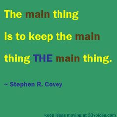 Stephen R. Covey will be missed.