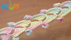 Crochet Ribbon Tape With Spirals Tutorial 46 Lace Cord 3D  http://sheruknitting.com/videos-about-knitting/romanian-lace-ribbons-and-cords/item/375-crochet-ribbon-with-spiral.html  Here is another interesting and unusual idea for your collection of crochet braids, ribbons and tapes. This one has spirals on each motif and double row of single crochet stitches on the edge. To make this ribbon you need to be very careful in you work.