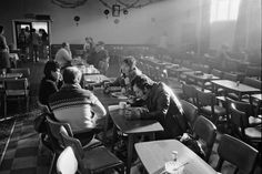 A soup kitchen run by the WAPC at the Mitchell & Darfield Social Club in Wombwell, 1985.