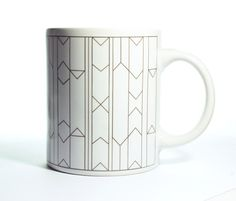 Monochrome Graphic Mug by FunMakesGood on Etsy