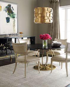 -5A3B Massoud Juno Dining Table & Trinity Dining Chair