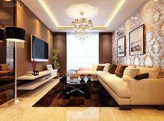50 Contoh Wallpaper Dinding Ruang Tamu Minimalis | Desainrumahnya.com